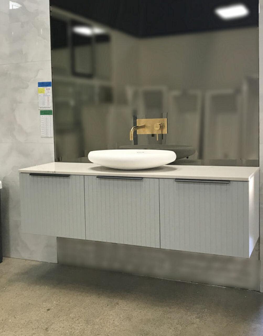 Refined Single Stone Top Bathroom Vanity